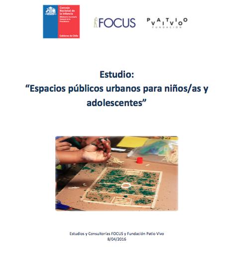 Espacios Públicos Urbanos para niños, niñas y adolescentes
