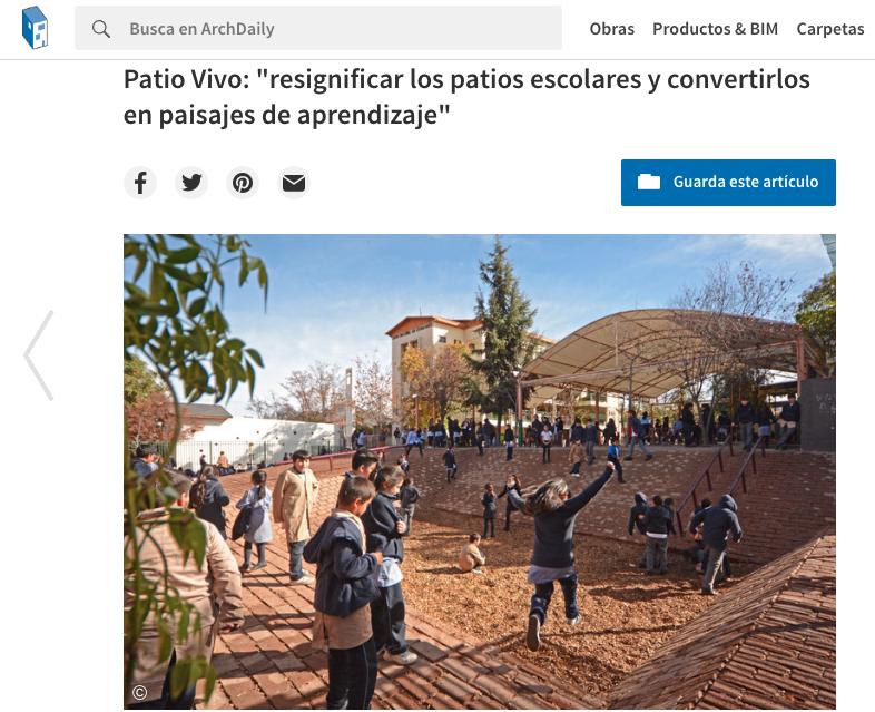 Patio Vivo: resignificar los patios escolares y convertirlos en Paisajes de Aprendizaje